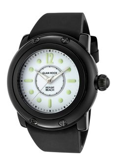 Price:$75.77 #watches Glam Rock GR25024, Add an understated look to your outfit with this unique and detailed Glam Rock watch. Rock Watch, Amai, Glam Rock, Cheap Fashion, Miami Beach, Watches, Boys, Girls, Popular