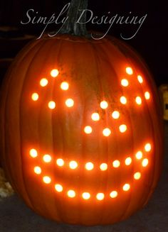 Simply Designing with Ashley Phipps: I gave a Rhinoplasty to a Pumpkin with a Drill