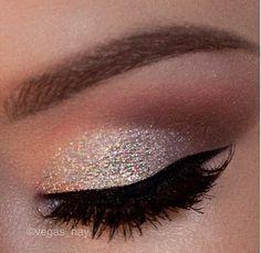giltter and eye liner