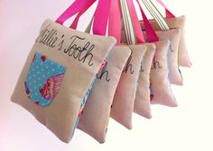 Tooth Fairy Pillow  Personalised Embroidered by RaspberryButton, £8.00