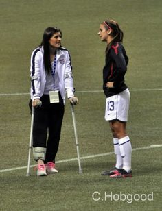 Ali Krieger and Alex Morgan after Krieger's January 2012 knee injury. (Alex Morgan/Facebook)