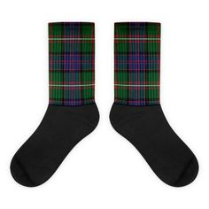 These socks will give you maximum comfort and style simultaneously! The top of the sock is printed, the bottom portion is solid black, and each sock is printed individually in the USA. • Thick ribbing