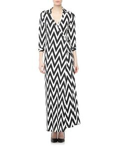 Jasper Wrap-Front Maxi-Dress, Black/White by JB by Julie Brown at Neiman Marcus Last Call.