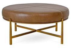 Renzo Round Ottoman, Saddle Leather x Living Room Furniture, Home Furniture, Furniture Design, Living Rooms, Saddle Leather, Leather Recliner, Leather Furniture, Luxury Furniture, Round Ottoman