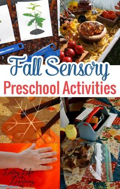 Get ready for the cool fall season and try some of these fun Fall sensory preschool activities