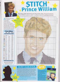 sandylandya@outlook.es Prince William Cross Stitch Chart