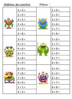 Additionner Les Doubles Fiche De Calcul à Imprimer Gs Cp Ce1