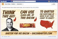 Oscar Mayer Bacon were masterful in creating fun, engaging content centered on their brand and product.  Here's a Facebook post that gets attention...yes?