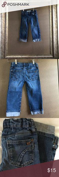 Cuffed Capri jeans. Joe's Jeans. Cuffed denim capris. 3 front pockets, 2 back pockets. Size 6. Joe's Jeans Bottoms Jeans