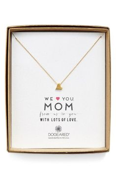 The perfect group gift from kids to a mom for Mother's Day. This delicate necklace with a heart pendant comes in sterling silver or 14-carat gold dipped silver. She'll feel special every time she wears it.