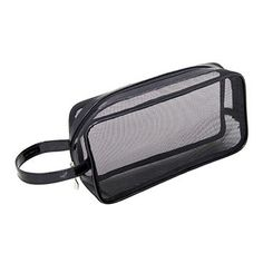 Mommy Makeup Black Mesh Makeup Bag: Black Mesh Makeup Bag designed by Mommy Makeup. Travel-sized @ x x The perfect cosmetic bag for ALL your makeup and cosmetics. Black mesh is see-through and travel friendly. Makeup Black, Makeup Bag Organization, Makeup Items, Flawless Makeup, Black Mesh, Large Bags, Travel Accessories, Travel Size Products, Makeup Yourself