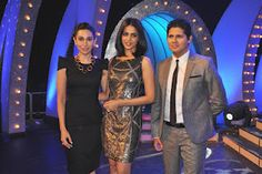 Genelia D'Souza and Karishma Kapoor at Grand Finale of Lux Chosen One. | Bollywood Cleavage