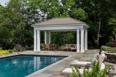 Exterior design Ideas For Modern Gazebo Pavillion Backyard, Outdoor Pavilion, Outdoor Gazebos, Outdoor Spaces, Outdoor Ideas, Outdoor Living, Outdoor Decor, Pool Gazebo, Backyard Pergola