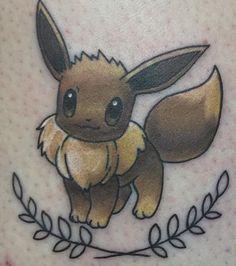 My little eevee tattoo #eevee #pokemon #pokemontattoo #eeveetattoo #133