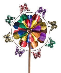 Another great find on #zulily! Five-Tier Flower and Butterfly Metal Wind Spinner #zulilyfinds