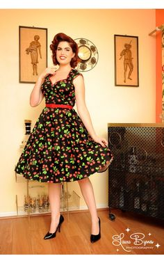 Pin Up Girl Clothing Com Alluring Erika Dress In Yellow Rose Print  Pinup Girl Clothing Rose Print Review