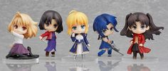 A set of #Nendoroid #Petites featuring all your favourite heroines from all the #TYPEMOON. #FateStayNight