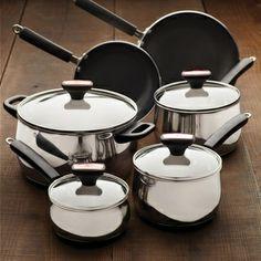 New kitchen Paula Deen Signature 12-piece Stainless Steel Cookware Set   Overstock.com Shopping - Great Deals on Paula Deen Cookware Sets