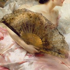 .:.After the Ball, Detail. by Conrad Kiesel (1846-1921)