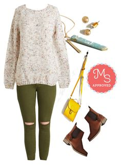 """""""The Sun Will Come Out To-marled Sweater"""" by modcloth ❤ liked on Polyvore featuring Brit-Stitch, Rocket Dog, women's clothing, women, female, woman, misses, juniors, Fall and outfit"""