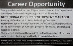 Nutritional Product Development Manager Job in Marketable Brand Company Product Development Manager, Lactating Mother, Career Opportunities, Food Industry, Email Marketing, Management, Nutrition