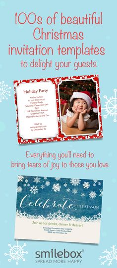Fabulous Christmas parties start with memorable invitations. Choose your favorite template, Print or post your own design, or add music and animation to share with friends on email or Facebook!
