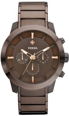 Capri Jewelers Arizona ~ www.caprijewelersaz.com #FOSSIL #Watch , Dress Chronograph Stainless Steel Watch - Brown FS4681