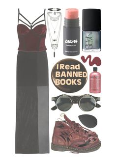 """""""What's up?"""" by morganamerica ❤ liked on Polyvore featuring Maison Margiela, Dr. Martens, Topshop, philosophy, beautyblender and NARS Cosmetics"""