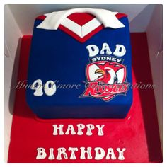 Sydney Roosters Nrl Birthday Cake Footy Food Birhday
