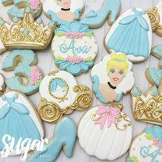 Cookies and a cake for Ava's Cinderella birthday... - Sugar by Lyndsie