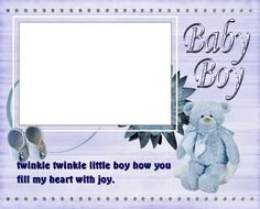 8x6 Sweet New Baby Boy Picture Frame by SapphireCustomPhotos, $8.00