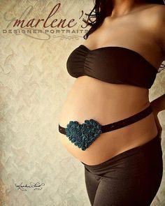 Maternity Sash  Dark Teal  Rosette Heart  by kayleemarieboutique, $17.50