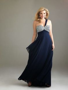A-line One Shoulder Rhinestone Sleeveless Floor-length Chiffon Prom Dresses/Evening Dresses ) Plus Size Wedding Guest Dresses, Plus Size Formal Dresses, Plus Size Gowns, Evening Dresses Plus Size, Chiffon Evening Dresses, Formal Gowns, Navy Prom Dresses, Designer Prom Dresses, Prom Dresses For Sale