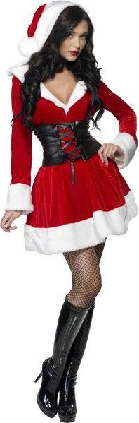 déguisement mère noël glamour Costumes De Noël, Costume Mère Noël,  Déguisement Sexy, Robe 043fbbf9fc83
