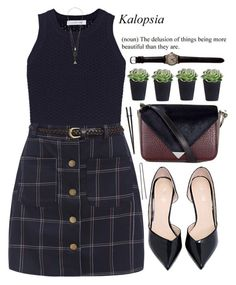 """""""Earth tones"""" by mihreta-m ❤ liked on Polyvore featuring Elizabeth and James, Alexander Wang and Hershesons"""