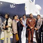 SPACE.com @SPACEdotcom    Enterprise: The Test Shuttle http://oak.ctx.ly/r/vfz  http://twitpic.com/b2w52u  @GeorgeTakei @TheRealNimoy