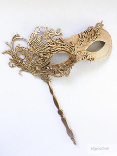 Luxury Gold Masquerade Holding Stick Mask, Womens Masquerade Stick Mask, Gold Butterfly Theme Hand H Venetian Masquerade Masks, Masquerade Party, Masquarade Mask, Stylo 3d, Makeup At Home, Cosmetic Items, Beautiful Mask, Fantasy Jewelry, Creations