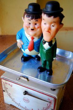 Bonecos Gordo e o Magro / Doll of Oliver Hardy & Stan Laurel