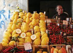 Siracusa market...Sicilian Cedri, candied is so delicious decorating casata
