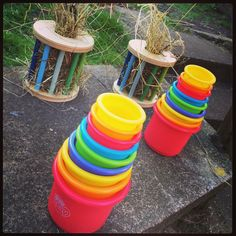 Hiding their pellet ration inside staking cups and stuffing safe wooden toys with hay are great ways of enriching feeding time