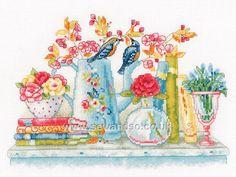 Buy Flowers in Vases Cross Stitch Kit Online at www.sewandso.co.uk