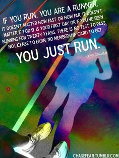running. that simple.