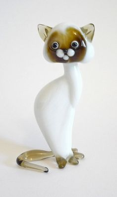 Kitten Cat White Figurine Art by artexport on #Etsy come @Sneak Attacks a fun new shop with love!