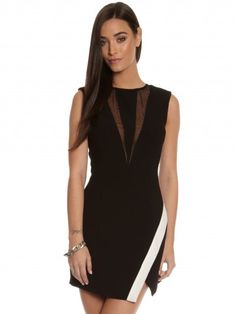 Coming Home Dress in Black & White