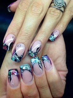 Mermaid\u0027s Tale Nail Art Design Tutorial