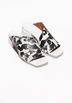 & Other Stories | Painterly Leather Slippers