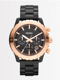 @Fossil #Men's CH2817 Keaton Black with Rose #Chronograph #Stainless #Steel #Watch @YuvaStyle India