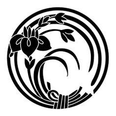 japanese kamon - Google Search Japanese Patterns, Japanese Design, Japanese Art, Tattoo Painting, Japanese Family Crest, Plant Logos, Japan Crafts, Kirigami, Japan Logo