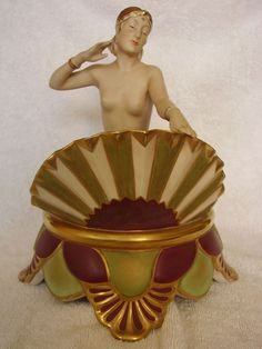 Original c1920 Art Deco RARE Royal Dux Figure Centrepiece Lamp of A Flapper Girl | eBay