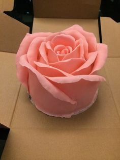 Shine Kids Crafts: 3D Big Rose Cake. This would be beautiful on its own, or as a top tier on a stacked wedding cake.